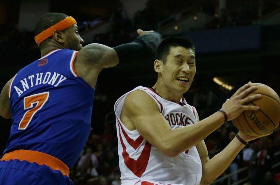 Jeremy Linas prieš Carmelo Anthony