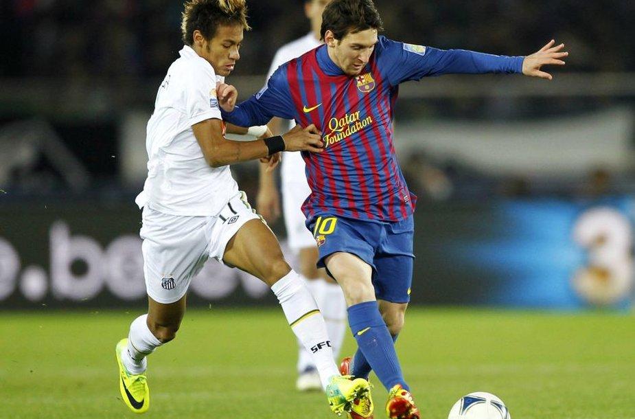 Neymaras ir Lionelis Messi. Ar kada nors jie rungtyniaus viename klube?