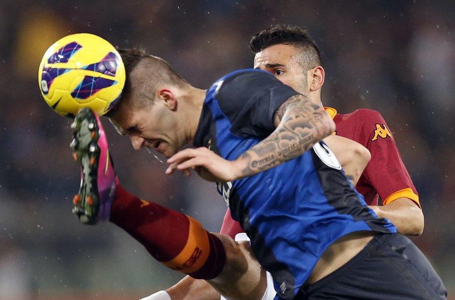 Rungtynių akimirka Milane