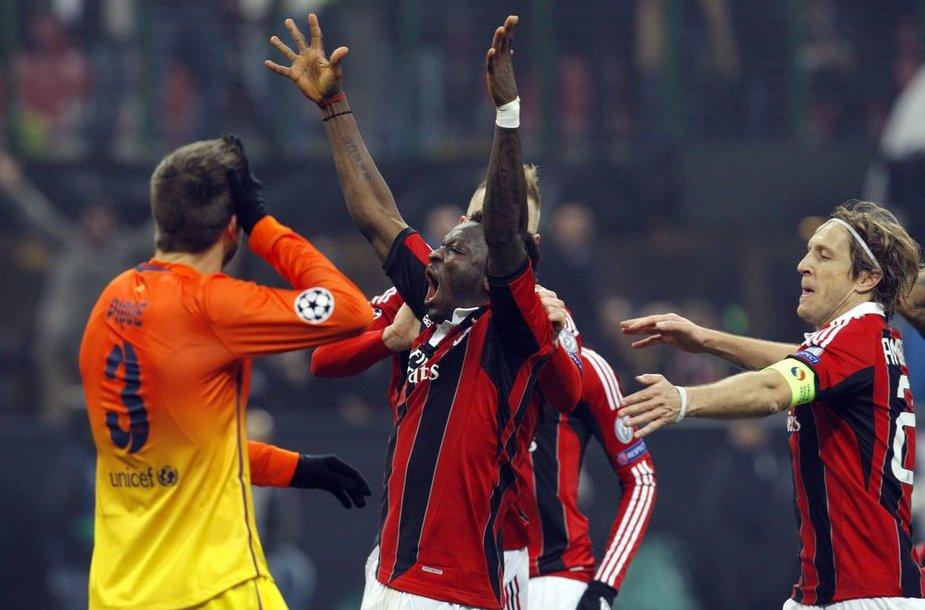 """""""Barcelona"""" – """"Milan"""". Pirmoji akistata baigėsi pastarųjų pergale."""