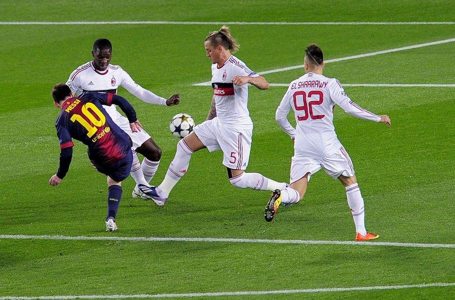 Pirmąjį įvartį mače pelnė Lionelis Messi
