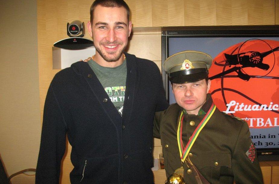J.Valančiūnas su Visvydu Matuliu