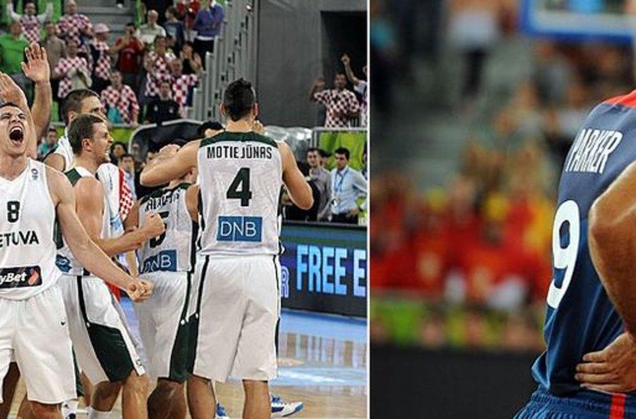 Lietuvos krepšinio rinktinė stos į kovą su Prancūzija