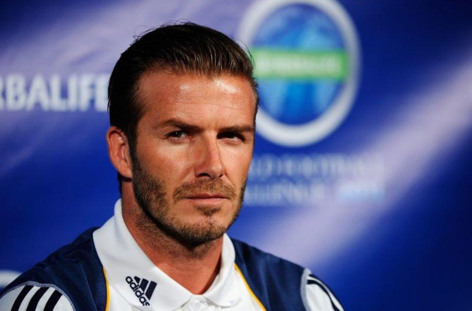 """Davidas Beckhamas atstovauja Los Andželo """"Galaxy"""""""