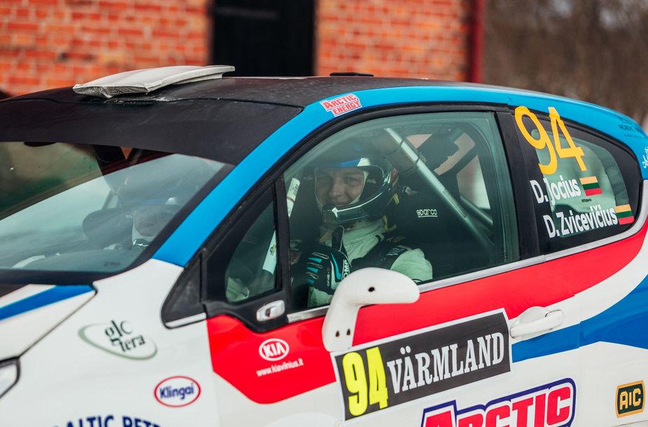 Deividas Jocius ir Donatas Zvicevičius startuoja WRC ralyje Švedijoje