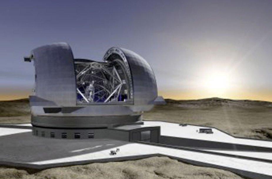 E-ELT teleskopo vizualizacija