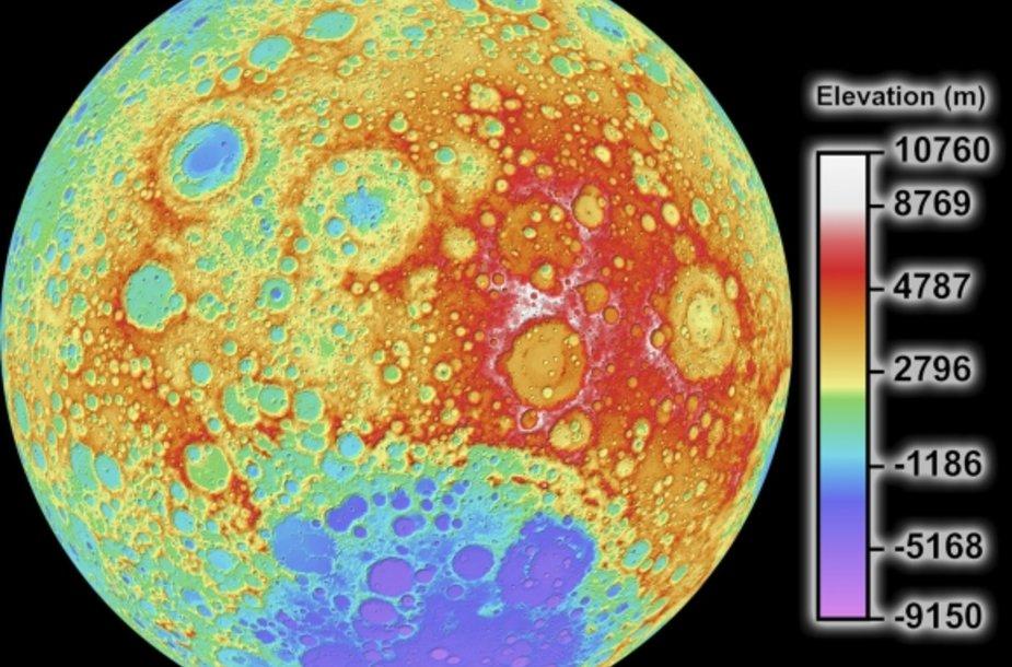 Mėnulio topografinis žemėlapis