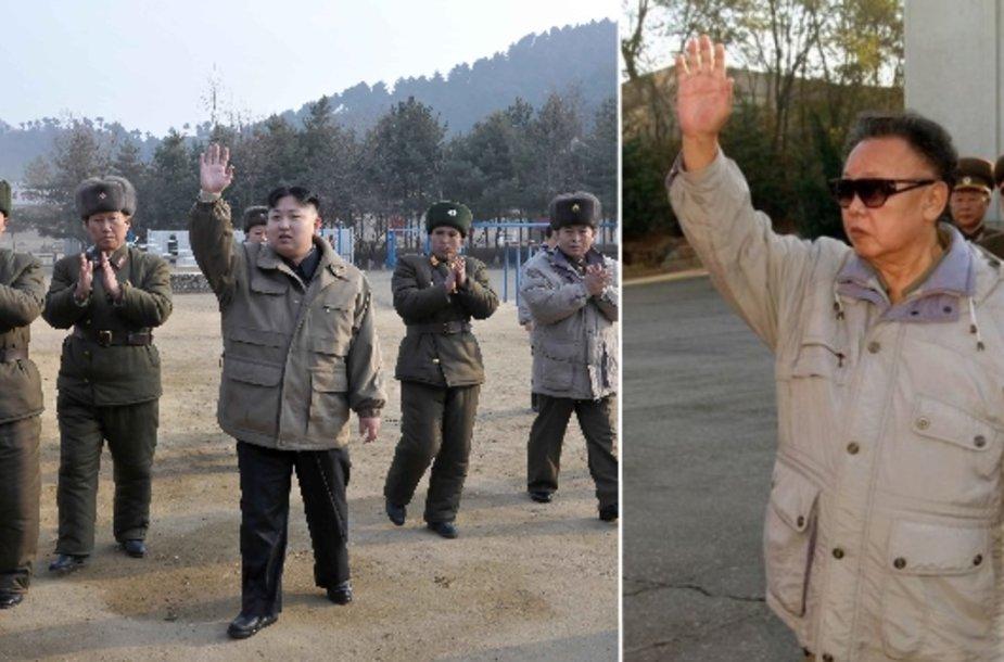 KIm Jong Unas (kairėje) ir Kim Jon Ilas