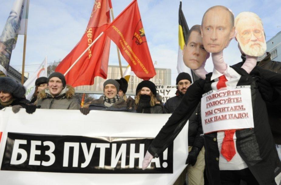 Rusijoje vyksta protestai