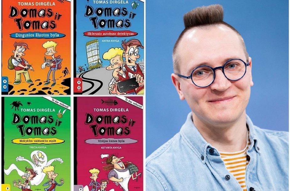 Rašytojas Tomas Dirgėla ir jo knygos
