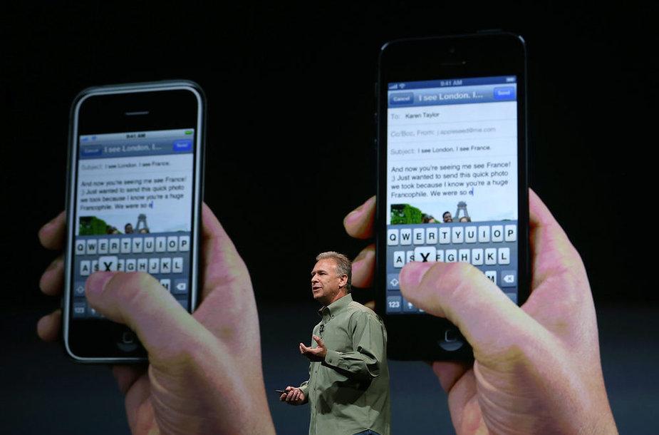 """Pristatytas išmanusis """"iPhone 5"""" telefonas"""