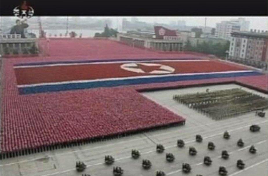Šiaurės Korėja mini šalies įkūrimo metines
