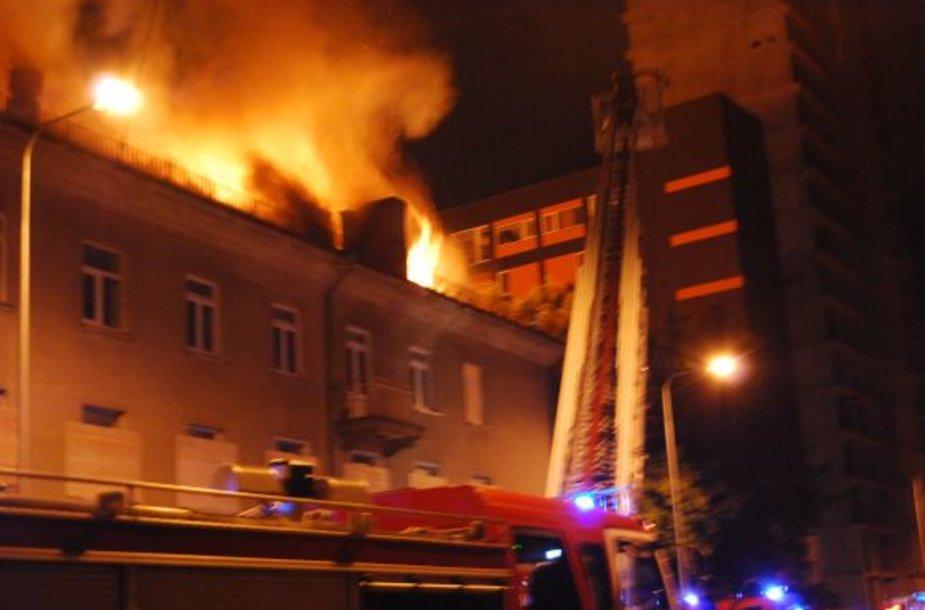 Gaisras Vilniuje, Lvovo gatvėje