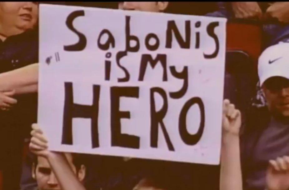Ištrauka iš vaizdo klipo apie A.Sabonį