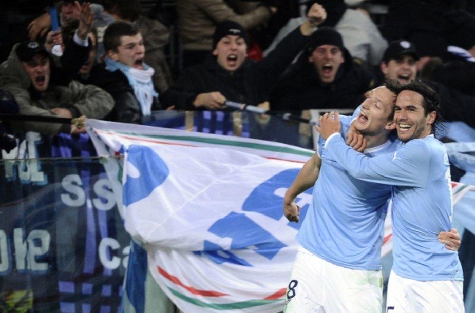 Liboras Kozakas (kairėje) ir Alvaro Gonzalezas džiaugiasi įvarčiu