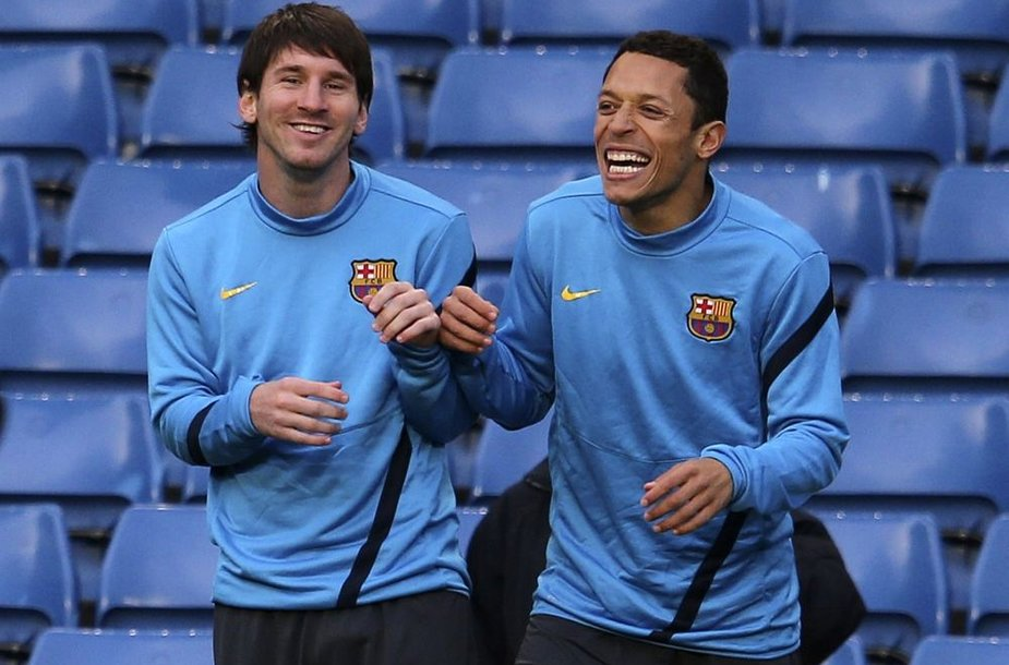 Lionelis Messi ir Adriano treniruotėje prieš trečiadienio rungtynes