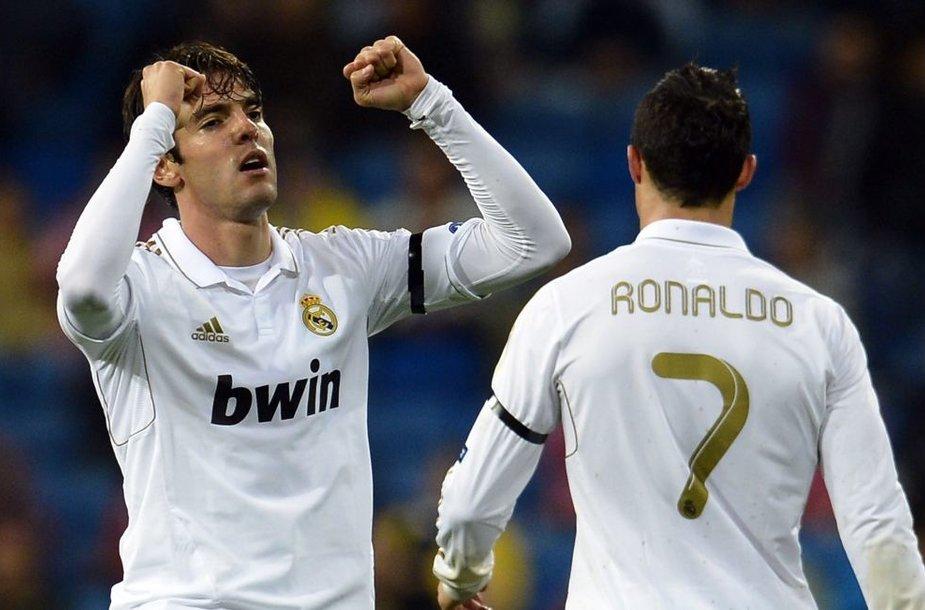 """Kaka """"Twitter"""" tinkle turi daugiau gerbėjų nei Cristiano Ronaldo"""