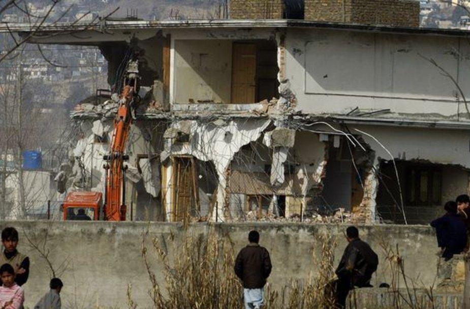 Griaunamas Osamos bin Ladeno slėptuvės kompleksas Pakistane