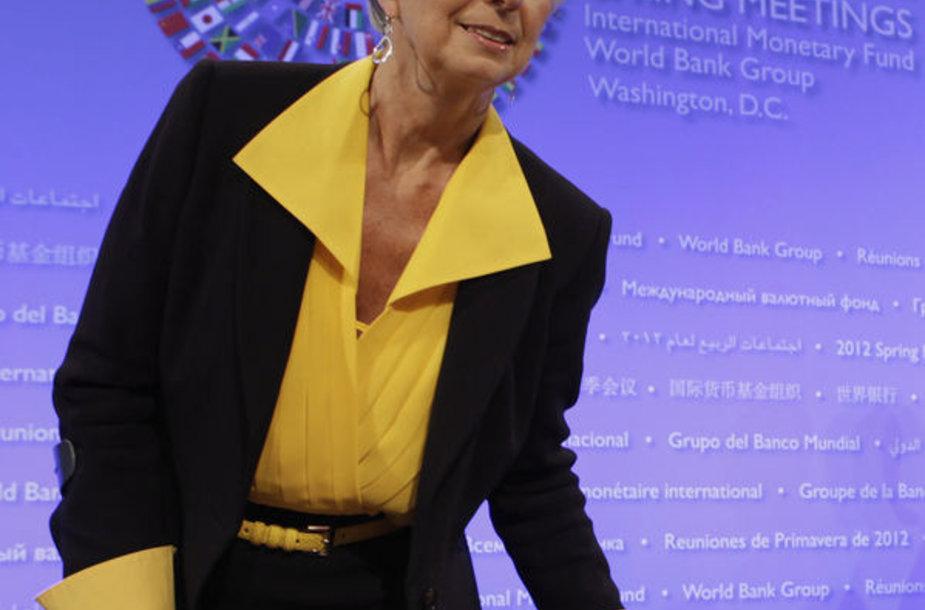 Tarptautinio valiutos fondo direktorė Christine Lagarde