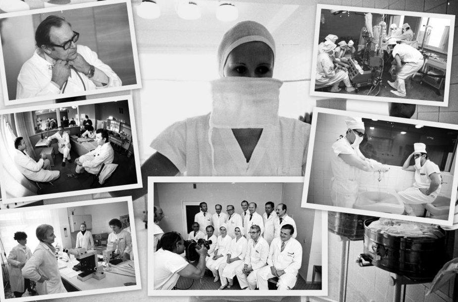 Istorinės Santariškių klinikų nuotraukos