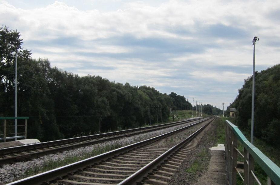 Geležinkelio teritoriją saugo modernios vaizdo stebėjimo kameros