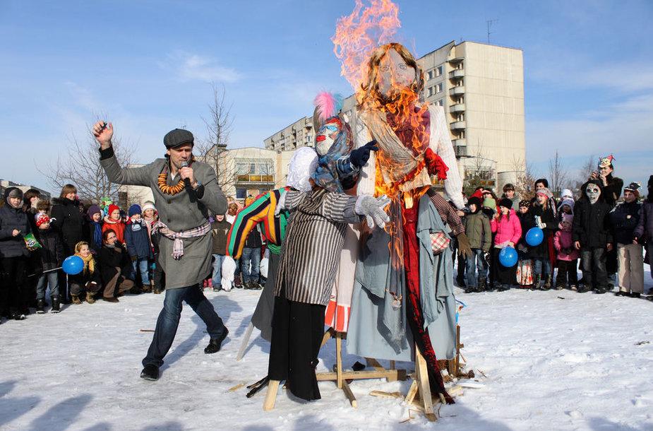 Užgavėnės Pašilaičiuose Vilniuje