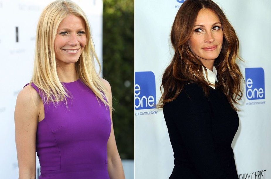 Gwyneth Paltrow ir Julia Roberts