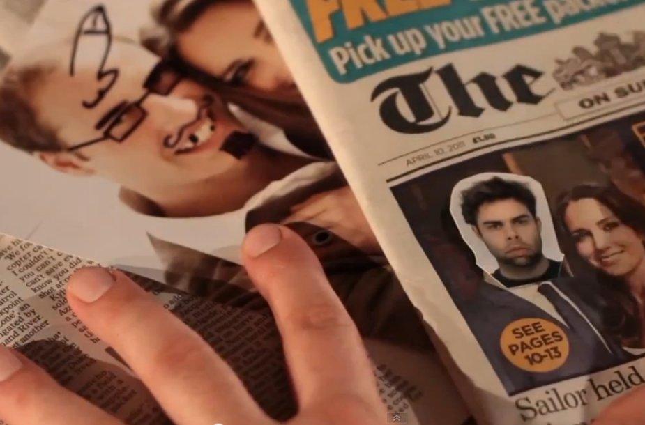 Per BBC netyčia parodyta nepadoriai apipaišyta princo Williamo nuotrauka