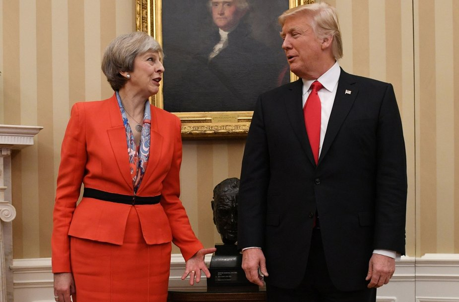 Theresa May ir Donaldas Trumpas