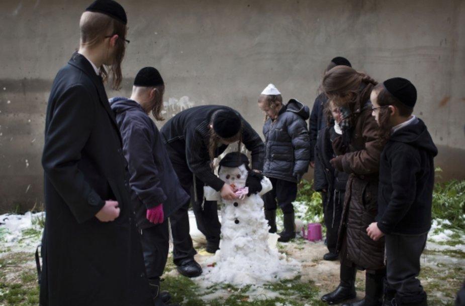 Sniegas Jeruzalėje