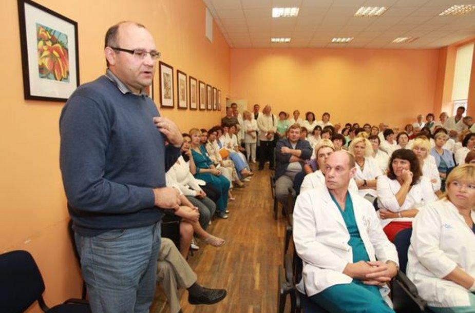 K.Mazurkevičius jau ne pirmąkart atleidžiamas iš ligoninės laikinojo vadovo pareigų.