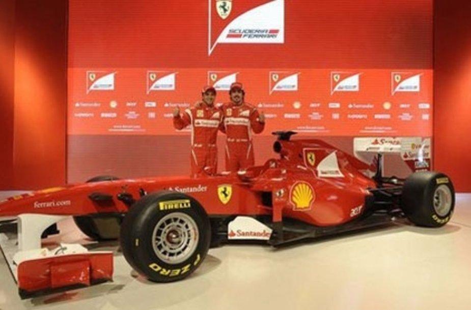 "2011 metų ""Formulės 1"" bolidas -  ""Ferrari F150"""