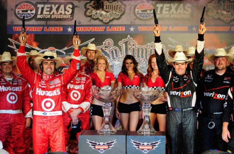 """IndyCar"" lenktynių Teksase akimirka"