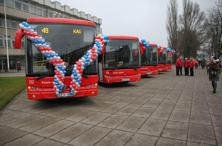Naujieji Kauno rajono autobusai