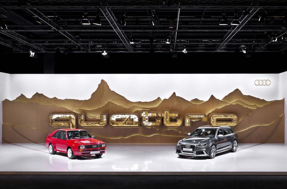 """""""Audi quattro"""" sistemą turintys automobiliai"""