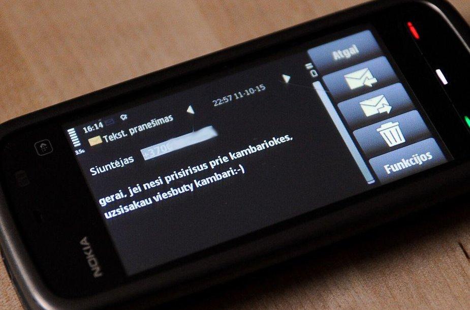 Mildos Bartašiūnaitės gautos SMS žinutės