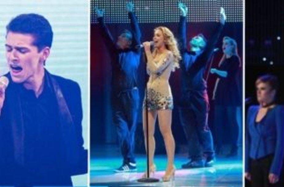 """Nacionalinės """"Eurovizijos"""" atrankos finalo dalyviai"""