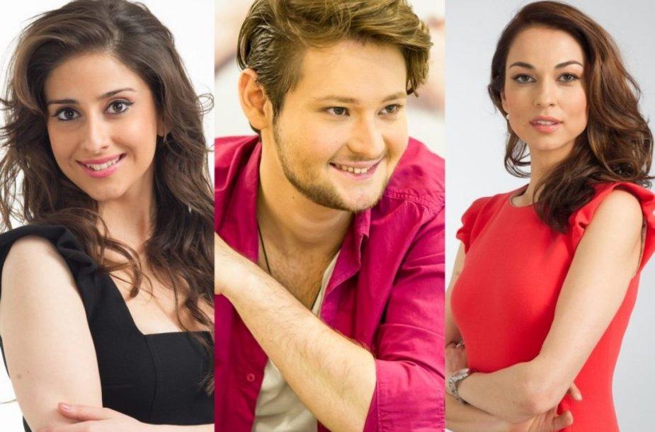 """""""Eurovizijos"""" vedėjais tapo Eldaras, Leila ir Nagrizė"""