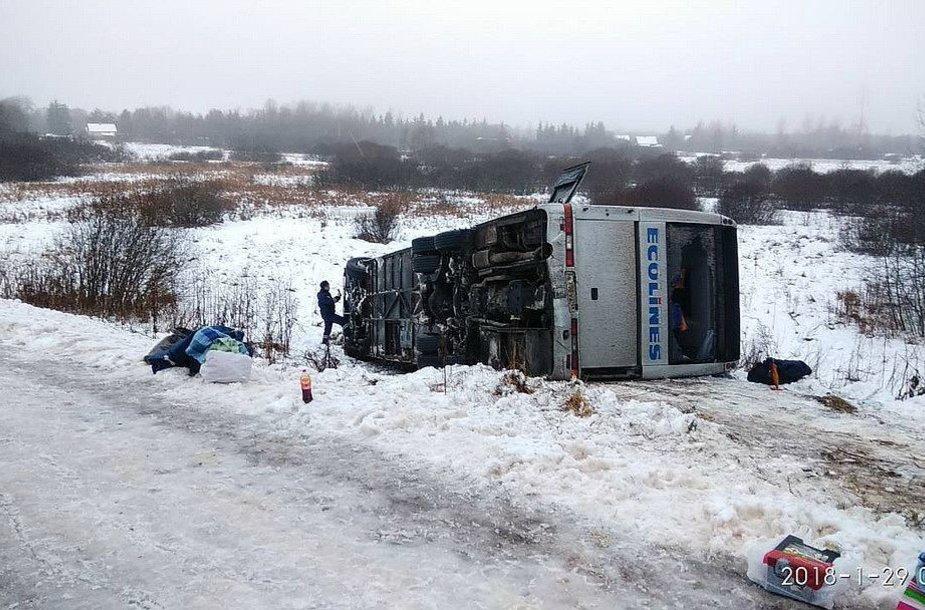 """""""Ecolines"""" autobuso avarija Rusijoje"""