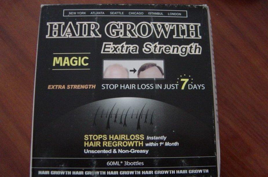 Sulaikyti nesaugūs plaukų atauginimo preparatai