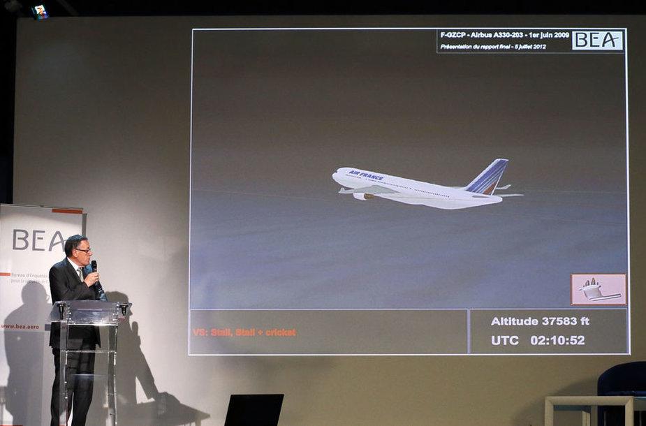 """Pristatomos tyrimo išvados dėl 2009 metais į Atlanto vandenyną nukritusio lėktuvo """"Airbus A330"""" katastrofos"""