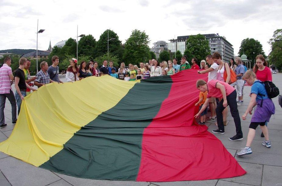Lietuvos trispalvė buvo iškelta ir Bergene (Norvegija)