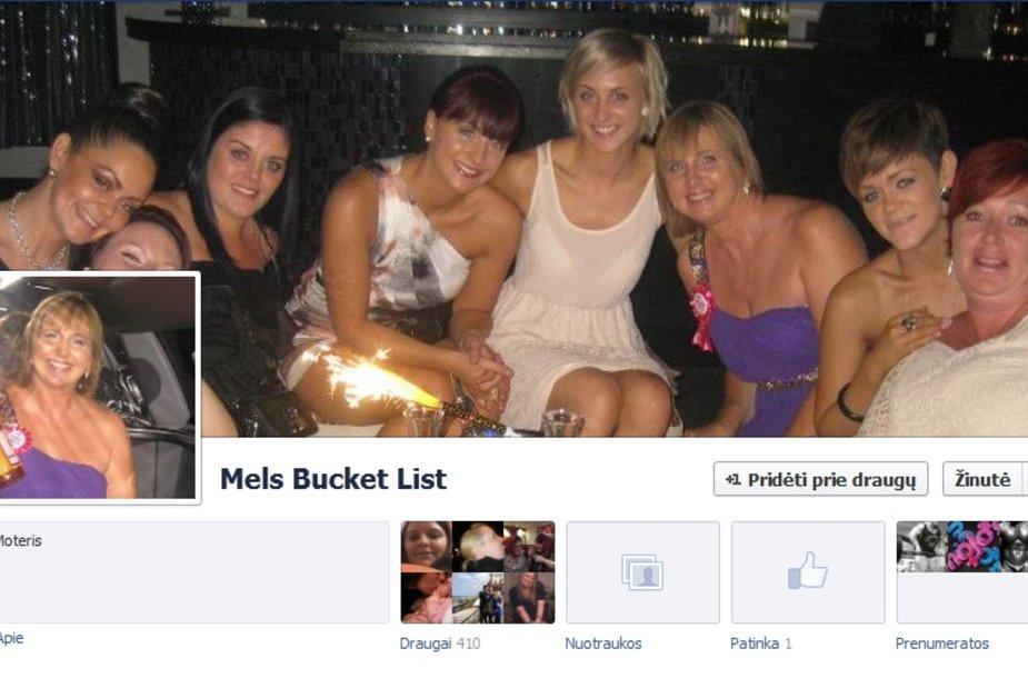 Paskutine vėžio stadija serganti Melanie Swan Horton sudarė savo norų sąrašą, kurį jos draugai paskelbė internete.