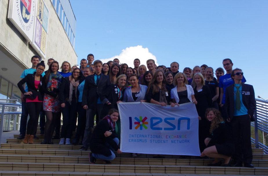 """""""Erasmus Student Network"""" (ESN) yra tarptautinė pelno nesiekianti studentų organizacija"""