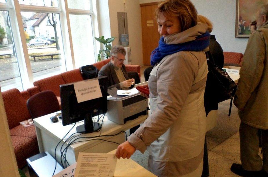 Išankstinis Seimo rinkimų 2-ojo turo balsavimas Šilutėje