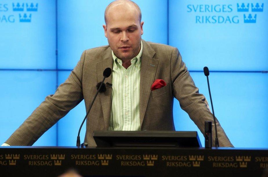Švedų parlamentaras Erikas Almqvistas