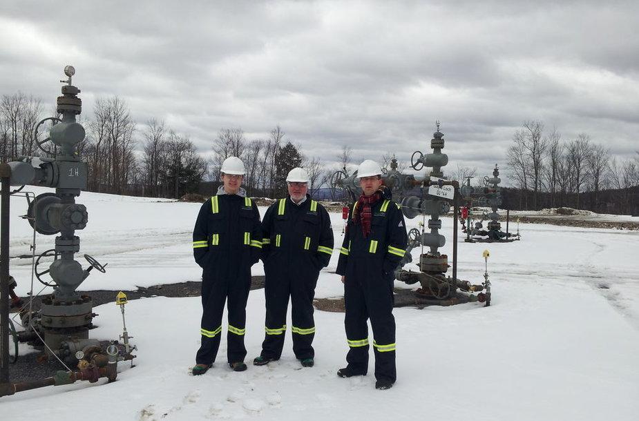 Valentinas Mazuronis su JAV skalūnų ekspertais