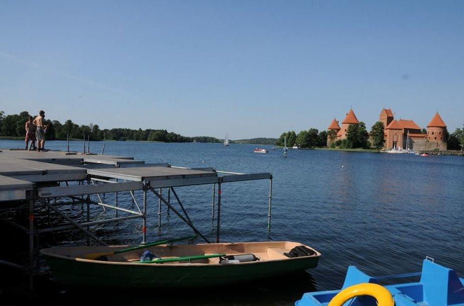 Scena Galvės ežere