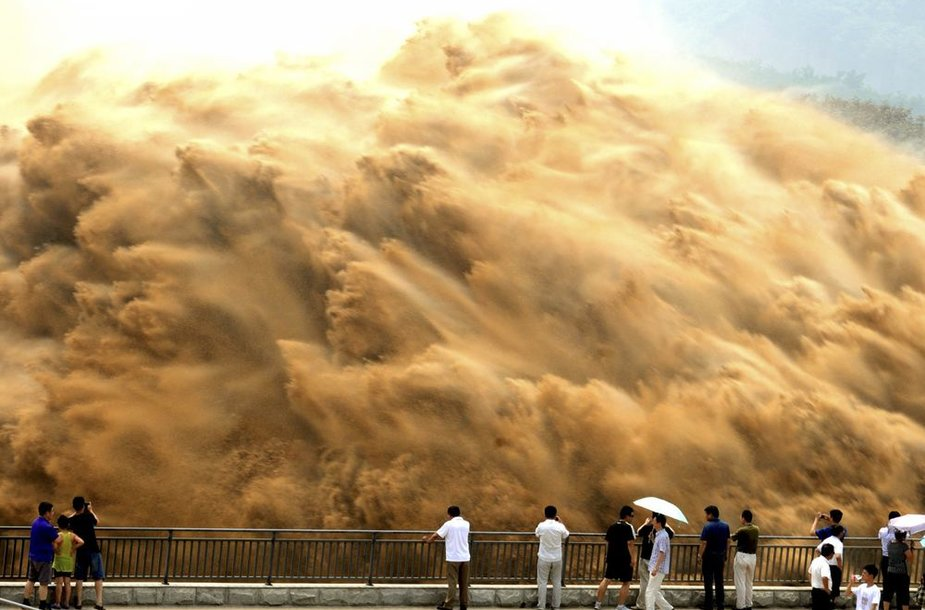 Plaunama Xiaolangdi užtvanka