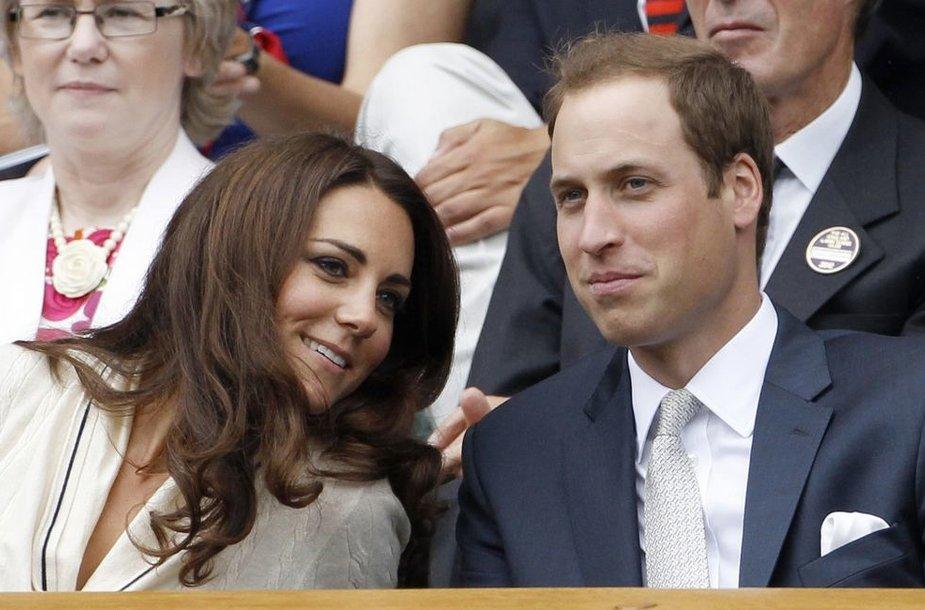 Princas Williamas su žmona Catherine